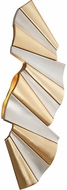 Corbett 250-12 Taffeta Contemporary Gold Leaf And Modern Silver Leaf LED Wall Sconce Light