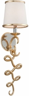 Corbett 251-11 Virtuoso Modern Gold Leaf With Polished Stainless Wall Sconce