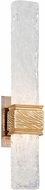 Corbett 253-12 Freeze Contemporary Gold Leaf With Polished Stainless LED Sconce Lighting
