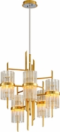 Corbett 257-05 Symphony Contemporary Gold Leaf Lighting Chandelier