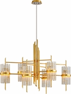 Corbett 257-56 Symphony Contemporary Gold Leaf Chandelier Lamp