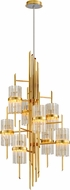 Corbett 257-78 Symphony Contemporary Gold Leaf Ceiling Chandelier