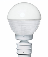 Costaluz 306153-POST-FR 3061 Series Contemporary White Frosted Outdoor Post Lamp