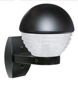 Costaluz 306157-WALL-FR 3061 Series Contemporary Black Frosted Outdoor Wall Lighting Sconce