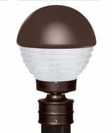 Costaluz 306198-POST-FR 3061 Series Contemporary Bronze Frosted Outdoor Post Light Fixture