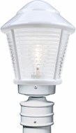 Costaluz 310053-POST-FR 3100 Series Contemporary White Frosted Outdoor Post Lighting