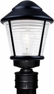 Costaluz 310057-POST-FR 3100 Series Contemporary Black Frosted Outdoor Lamp Post Light