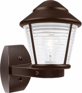 Costaluz 310098-WALL-FR 3100 Series Contemporary Bronze Frosted Outdoor Wall Lighting Sconce