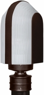 Costaluz 313998-POST-FR 3139 Series Modern Bronze Frosted Exterior Post Lighting
