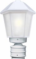 Costaluz 327253-POST-FR 3272 Series Contemporary White Frosted Outdoor Post Light Fixture