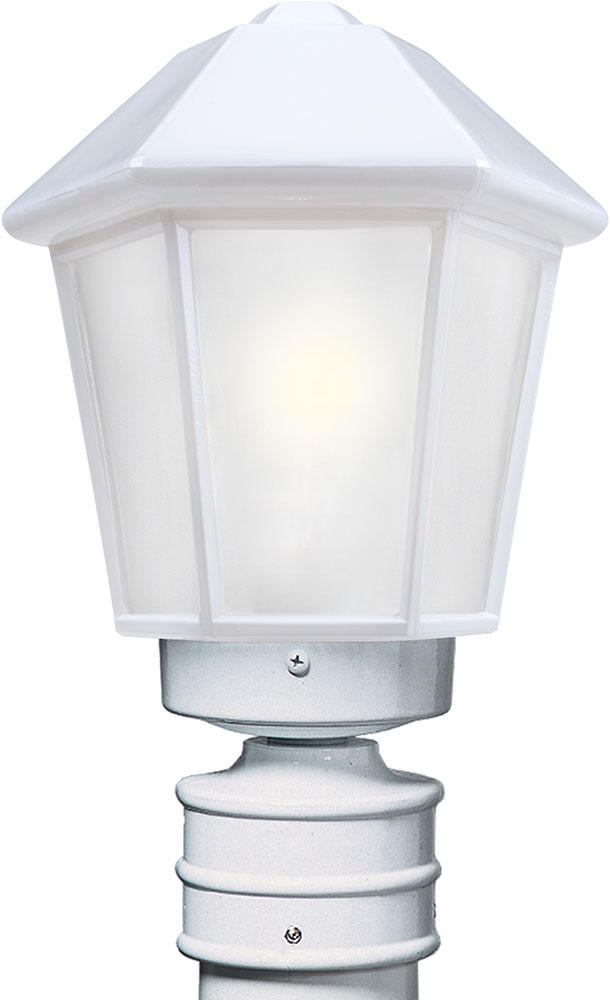 Costaluz 327253 post fr 3272 series contemporary white for Contemporary outdoor post light fixtures