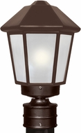 Costaluz 327298-POST-FR 3272 Series Contemporary Bronze Frosted Outdoor Lamp Post Light