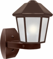 Costaluz 327298-WALL-FR 3272 Series Contemporary Bronze Frosted Outdoor Wall Sconce