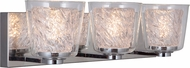 Craftmade 19320CH3-LED Bevi Modern Chrome LED 3-Light Bathroom Lighting