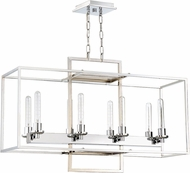 Craftmade 41528-CH Cubic Contemporary Chrome 36  Island Light Fixture