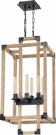 Craftmade 41536-FSNW Cubic Modern Fired Steel / Natural Wood 15.5  Foyer Lighting