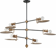 Craftmade 42326-FBPAB Eclipse Contemporary Flat Black / Patina Aged Brass Chandelier Light