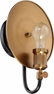 Craftmade 42361-FBPAB Eclipse Contemporary Flat Black / Patina Aged Brass Wall Sconce Lighting