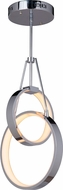 Craftmade 42723-CH-LED Anillo Modern Chrome LED Lighting Pendant