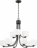 Craftmade 43529-ABZ Clarendon Aged Bronze Brushed Chandelier Lamp