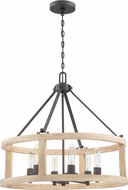 Craftmade 44096-CIDO Astoria Cast Iron Drum Hanging Pendant Lighting