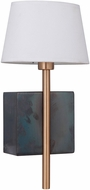 Craftmade 44461-FSSB Parker Fired Steel / Satin Brass Wall Lamp