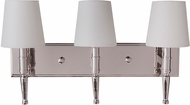 Craftmade 44603-PLN Ella Polished Nickel 3-Light Bath Lighting Fixture