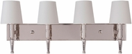 Craftmade 44604-PLN Ella Polished Nickel 4-Light Bathroom Vanity Lighting