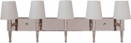 Craftmade 44605-PLN Ella Polished Nickel 5-Light Bathroom Sconce