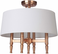 Craftmade 44654-SB Ella Satin Brass Flush Mount Ceiling Light Fixture