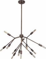 Craftmade 44713-PAB Aspen Contemporary Patina Aged Brass Lighting Chandelier