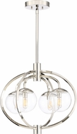 Craftmade 45524-PLN Piltz Contemporary Polished Nickel Mini Chandelier Lamp