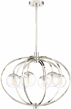 Craftmade 45526-PLN Piltz Contemporary Polished Nickel Chandelier Lighting