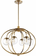 Craftmade 45526-SB Piltz Modern Satin Brass Chandelier Light