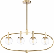 Craftmade 45574-SB Piltz Modern Satin Brass Kitchen Island Lighting