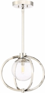 Craftmade 45591-PLN Piltz Contemporary Polished Nickel Pendant Lighting