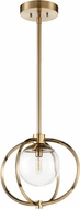 Craftmade 45591-SB Piltz Modern Satin Brass Mini Lighting Pendant