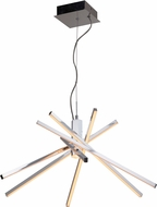 Craftmade 45726-CH-LED Pinnacle Modern Chrome LED Lighting Chandelier