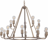Craftmade 45915-SB Arc Contemporary Satin Brass 35  Ceiling Chandelier