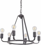 Craftmade 45926-OBG Arc Modern Oil Bronze Gilded Mini Hanging Chandelier