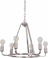 Craftmade 45926-PLN Arc Contemporary Polished Nickel Mini Chandelier Light