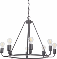 Craftmade 45928-OBG Arc Contemporary Oil Bronze Gilded 28  Lighting Chandelier