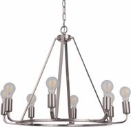 Craftmade 45928-PLN Arc Modern Polished Nickel 28  Chandelier Lamp