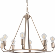 Craftmade 45928-SB Arc Contemporary Satin Brass 28  Chandelier Light