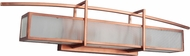 Craftmade 46001-BCP Kodo Contemporary Brushed Copper 3-Light Bathroom Light Sconce