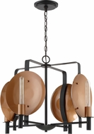 Craftmade 46524-MBKSCP Candela Modern Matte Black / Satin Copper Lighting Chandelier