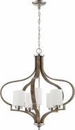 Craftmade 46725-PLNWF Jasmine Modern Polished Nickel / Weathered Fir Chandelier Light