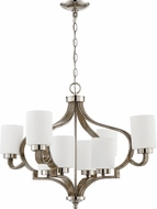 Craftmade 46728-PLNWF Jasmine Contemporary Polished Nickel / Weathered Fir Ceiling Chandelier