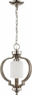 Craftmade 46791-PLNWF Jasmine Contemporary Polished Nickel / Weathered Fir Mini Hanging Light Fixture
