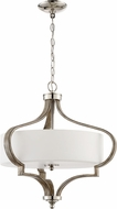 Craftmade 46793-PLNWF Jasmine Modern Polished Nickel / Weathered Fir Drop Lighting